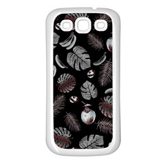 Tropical pattern Samsung Galaxy S3 Back Case (White)