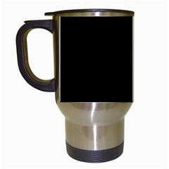Black Travel Mugs (White)