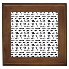 Fish pattern Framed Tiles