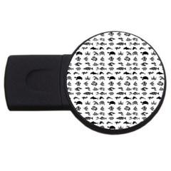 Fish pattern USB Flash Drive Round (1 GB)