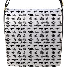 Fish pattern Flap Messenger Bag (S)