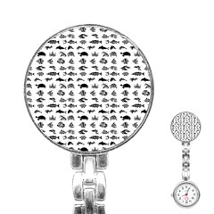 Fish pattern Stainless Steel Nurses Watch