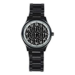 Fish pattern Stainless Steel Round Watch