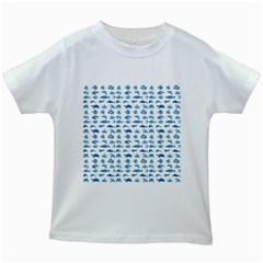 Fish pattern Kids White T-Shirts