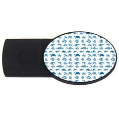Fish pattern USB Flash Drive Oval (1 GB)