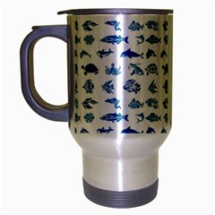 Fish pattern Travel Mug (Silver Gray)