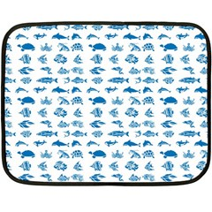 Fish pattern Double Sided Fleece Blanket (Mini)