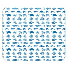 Fish pattern Double Sided Flano Blanket (Small)