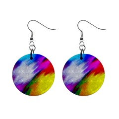 Rainbow colors              1  Button Earrings