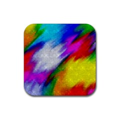 Rainbow colors              Rubber Square Coaster (4 pack