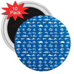 Fish pattern 3  Magnets (10 pack)