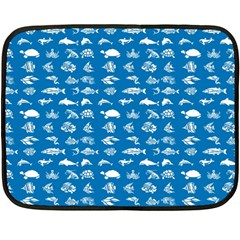 Fish pattern Double Sided Fleece Blanket (Mini)
