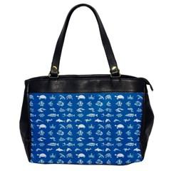 Fish pattern Office Handbags