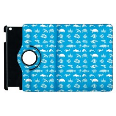 Fish pattern Apple iPad 3/4 Flip 360 Case