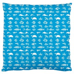 Fish pattern Large Flano Cushion Case (One Side)
