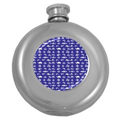 Fish pattern Round Hip Flask (5 oz)