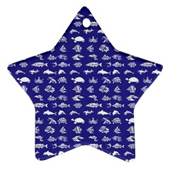 Fish pattern Star Ornament (Two Sides)