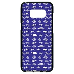 Fish Pattern Samsung Galaxy S8 Black Seamless Case