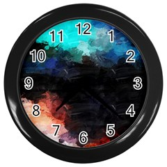 Paint strokes and splashes              Wall Clock (Black)