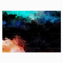 Paint strokes and splashes              Large Glasses Cloth