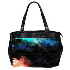 Paint strokes and splashes              Oversize Office Handbag (2 Sides)
