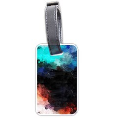 Paint strokes and splashes              Luggage Tag (one side)
