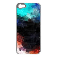 Paint strokes and splashes        Apple iPhone 5 Case (Silver)