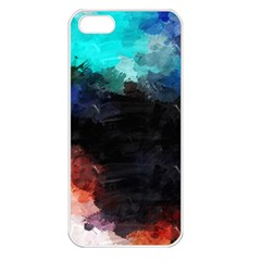 Paint strokes and splashes        Apple iPhone 5 Seamless Case (White)