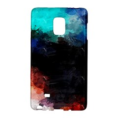 Paint strokes and splashes        Samsung Galaxy Note 4 Leather Folio