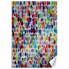 Colorful splatters               Canvas 12  x 18