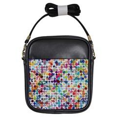 Colorful splatters               Girls Sling Bag