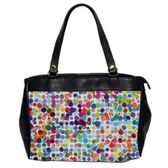 Colorful splatters               Oversize Office Handbag (2 Sides)