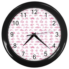 Fish pattern Wall Clocks (Black)