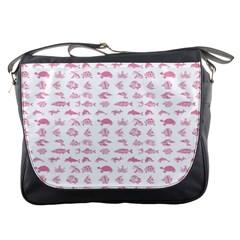 Fish pattern Messenger Bags