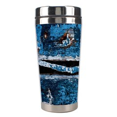 Blue Painted Wood                Stainless Steel Travel Tumbler