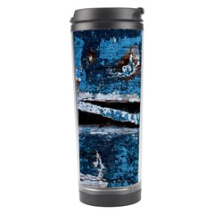 Blue painted wood                Travel Tumbler
