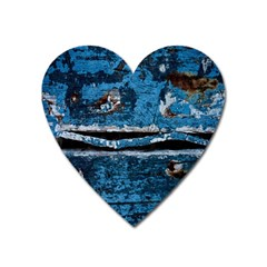 Blue painted wood                Magnet (Heart)