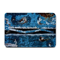 Blue painted wood                Small Doormat