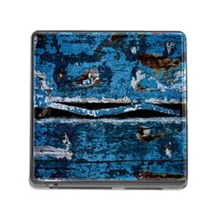 Blue painted wood                Memory Card Reader (Square)