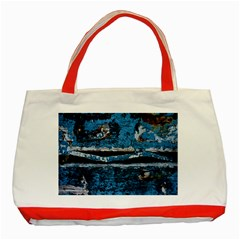 Blue painted wood                Classic Tote Bag (Red)
