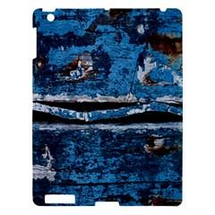 Blue painted wood          Apple iPad 3/4 Hardshell Case