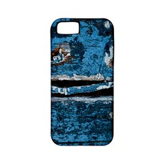 Blue painted wood          Apple iPhone 4/4S Hardshell Case (PC+Silicone)