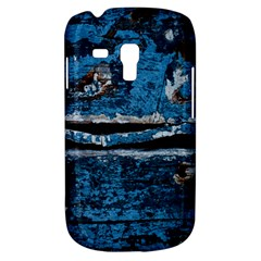 Blue painted wood          Samsung Galaxy Ace Plus S7500 Hardshell Case