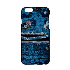 Blue painted wood          Apple iPhone 6/6S Black Enamel Case