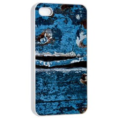 Blue painted wood          Apple iPhone 4/4s Seamless Case (Black)