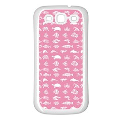 Fish pattern Samsung Galaxy S3 Back Case (White)