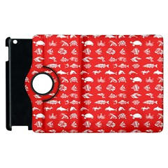 Fish pattern Apple iPad 2 Flip 360 Case