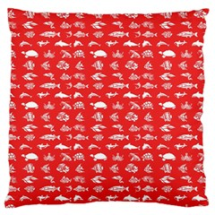 Fish pattern Large Flano Cushion Case (Two Sides)