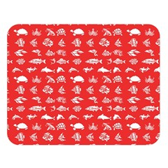 Fish pattern Double Sided Flano Blanket (Large)