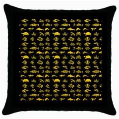 Fish pattern Throw Pillow Case (Black)